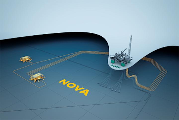 Wintershall's Nova subsea tieback to the Gjøa semisubmersible platform in the Norwegian North Sea