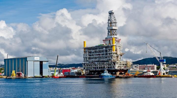 Johan Sverdrup drilling platform topsides