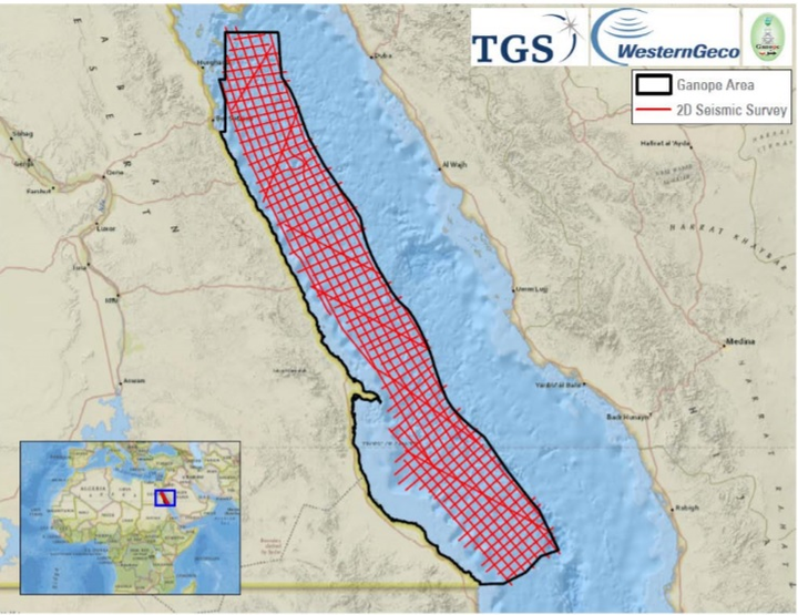 2D long-offset, broadband multi-client seismic survey in the Egyptian Red Sea
