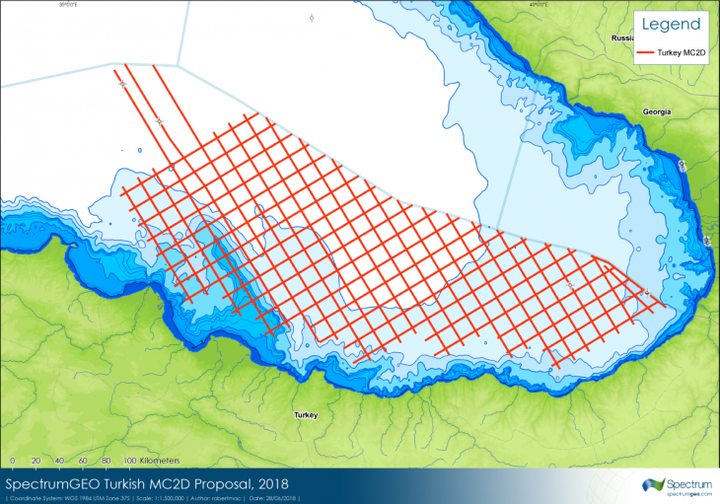 2D multi-cleint seismic survey in the Turkish sector of the Black Sea