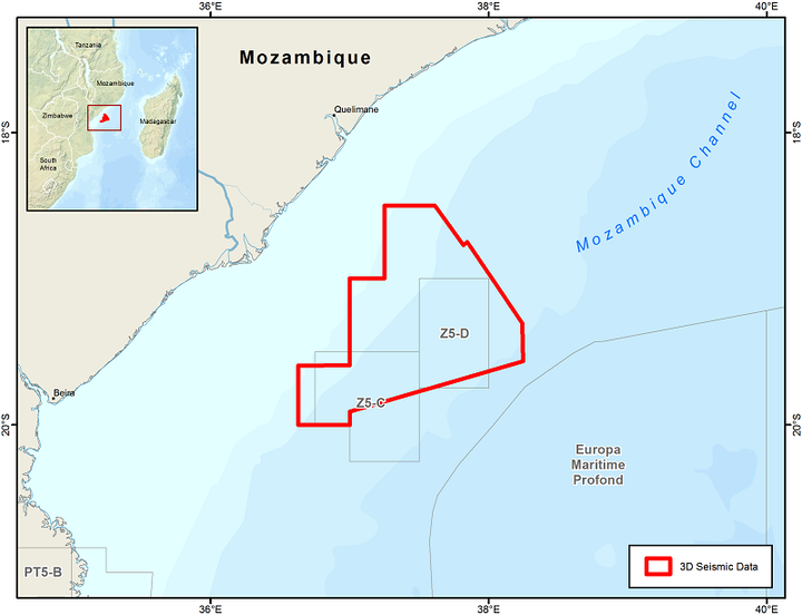 Blocks Z5-C and Z5-D in the outer Zambezi Delta basin offshore Mozambique