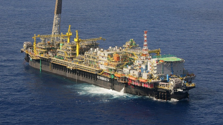 The FPSO P-54 on the Roncador field in the Campos basin offshore Brazil