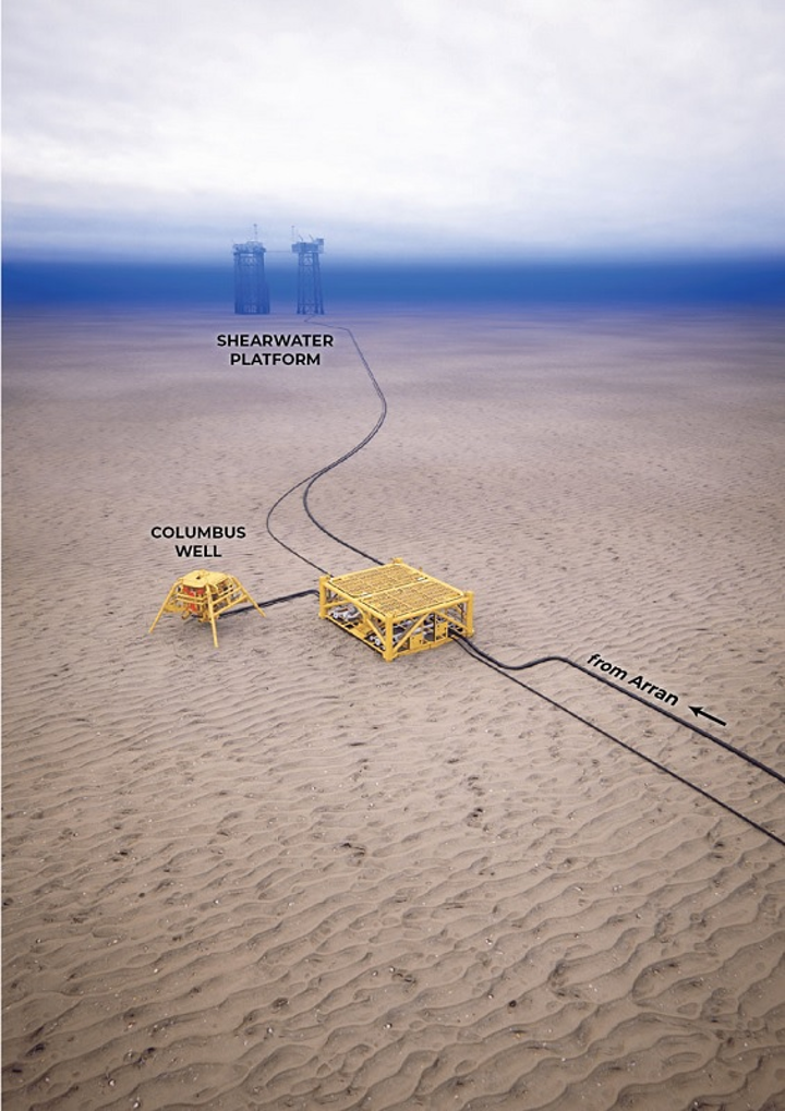 Columbus gas/condensate field in the UK central North Sea