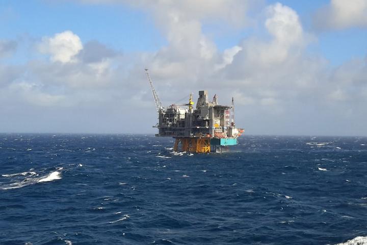 Rowan Viking jackup at the Edvard Grieg field on the Utsira High offshore Norwau