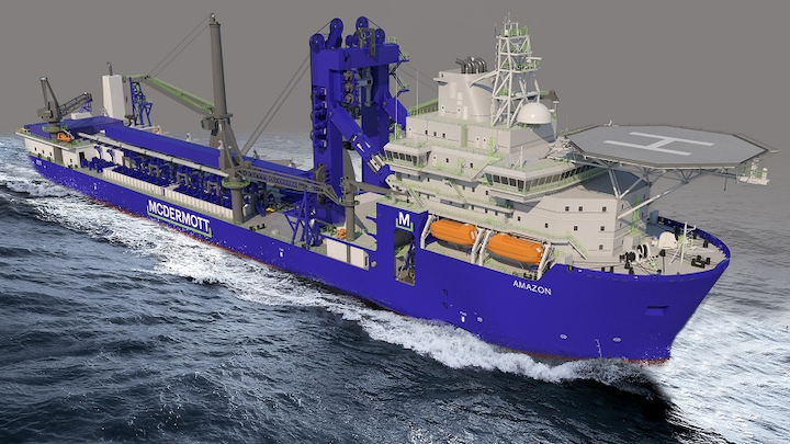 McDermott's ultra-deepwater J-Lay vessel Amazon