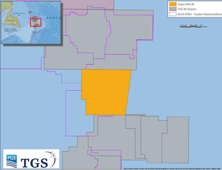 Lewis Hills 3D Geostreamer survey survey in the Flemish Pass basin offshore Newfoundland