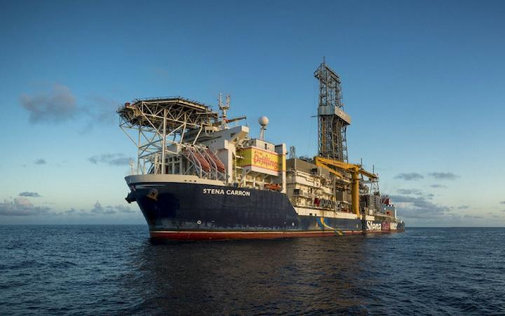 Stena Carron drillship offshore Guyana