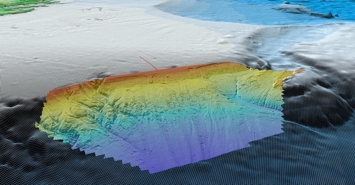 High-resolution bathymetric map of the Carson basin offshore Newfoundland