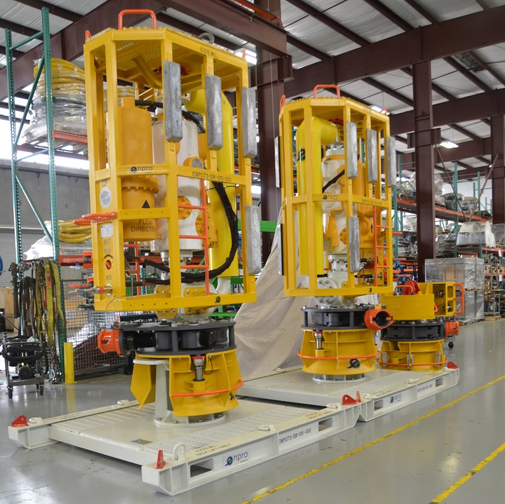 Enpro Subsea's flow access modules awaiting deployment in the Gulf of Mexico