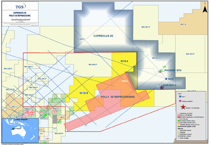 Capreolus 3D and Polly 3D reprocessing offshore northwest Australia