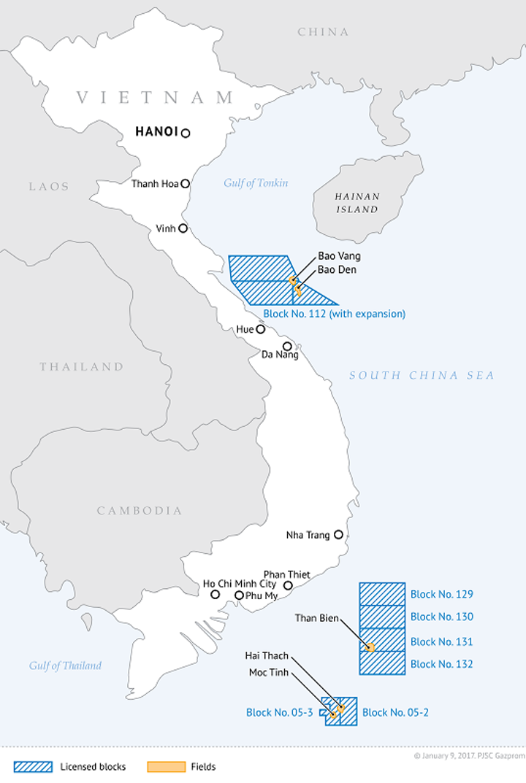 Bao Vang field offshore Vietnam