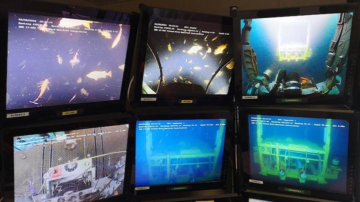 Manifold installation at Visund Nord IOR in the Norwegian North Sea