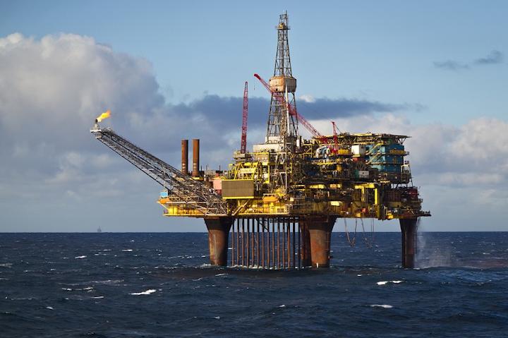 Dunlin Alpha platform in the UK northern North Sea