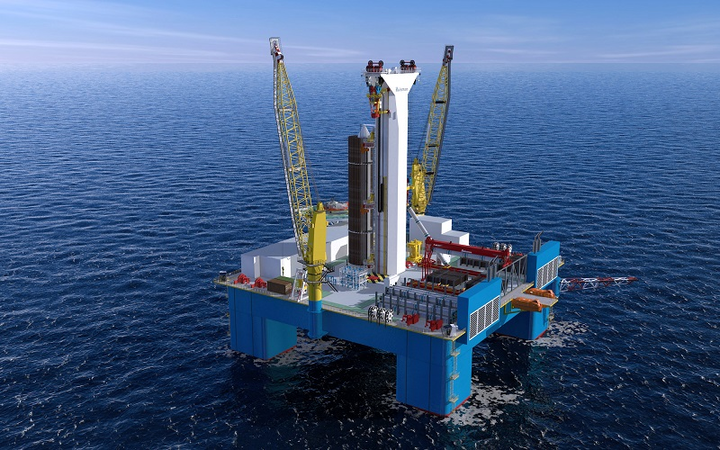 Huisman drilling system for a CMHI moored semisubmersible