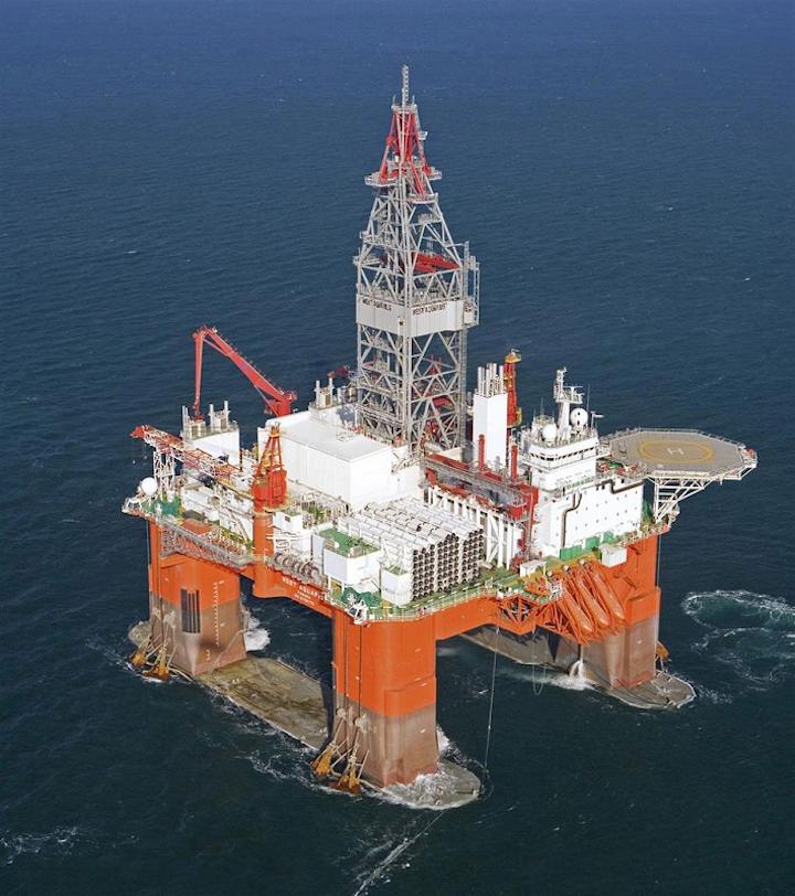 West Aquarius semisubmersible drilling rig