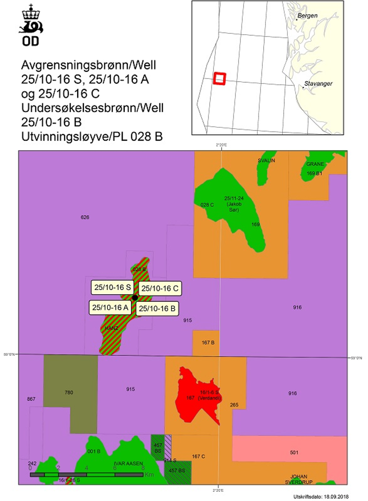 Aker BP appraisal wells on the Hanz oil field in the central Norwegian North Sea