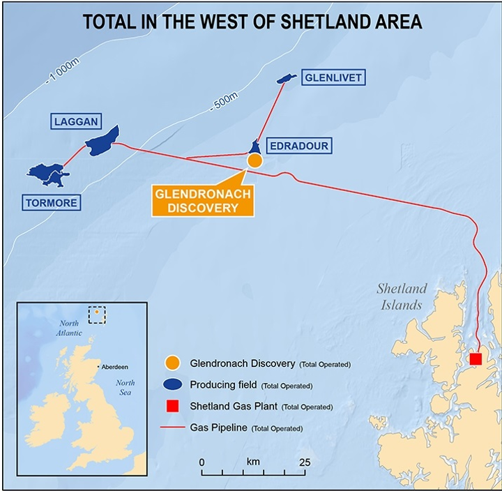 Total in the west of Shetland