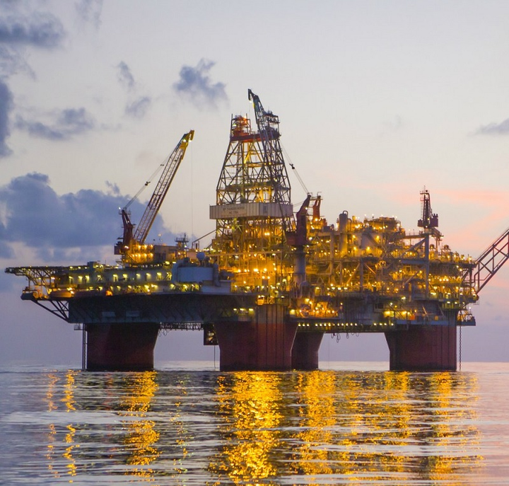 Thunder Horse platform in the deepwater Gulf of Mexico