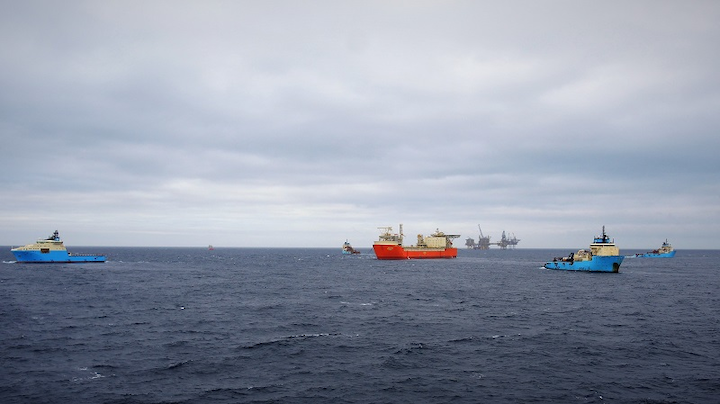 Hookup of the FSO Ailsa at the Culzean field in the UK central North Sea