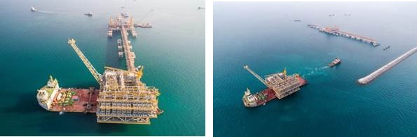 Floatover installation of the REGAS topsides offshore Bahrain