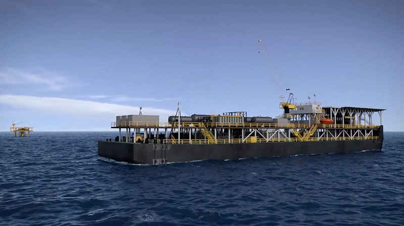 Production barge for Apsara oil field development offshore Cambodia