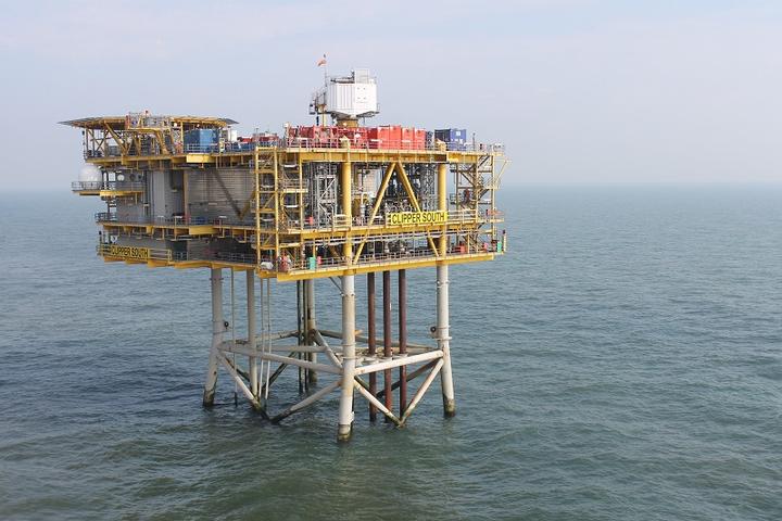 Clipper South platform in the UK southern North Sea