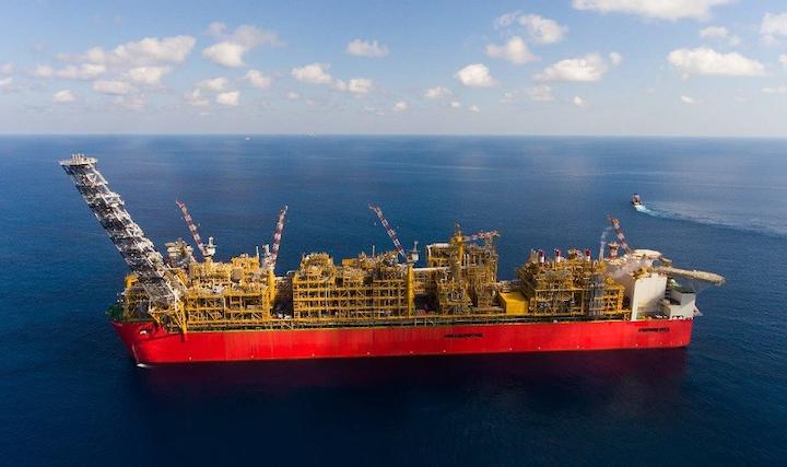 Prelude FLNG vessel offshore Western Australia
