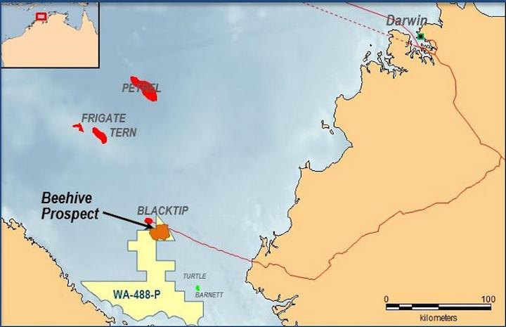 Beehive prospect offshore northwest Australia