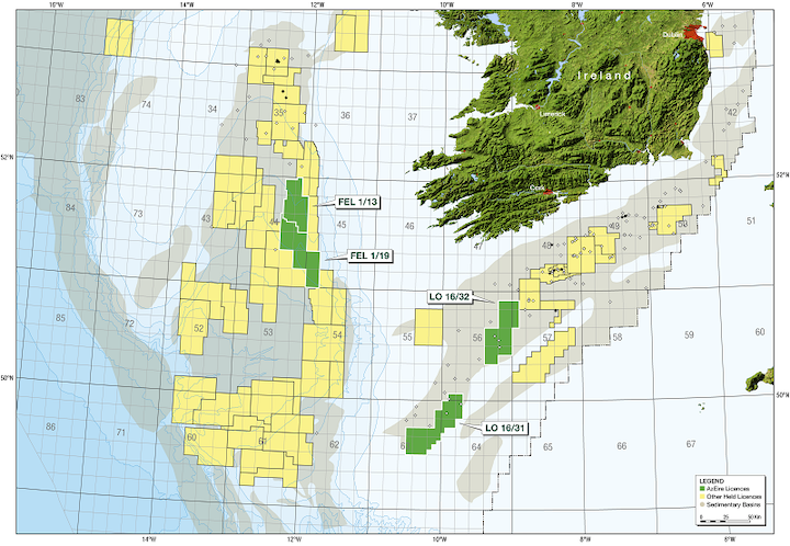 Map Of Ireland 32.Azeire Assessing Drilling Options On Irish Frontier Licenses