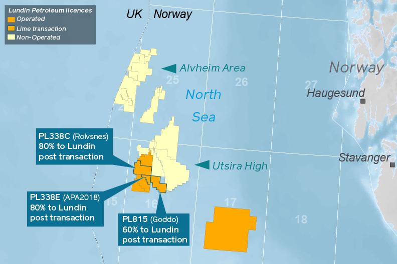 Lundin's operations in the Utsira High in the Norwegian North Sea