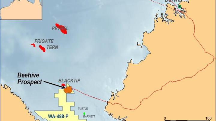 Beehive prospect offshore Australia