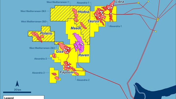 West Nile Delta concession in the Mediterranean Sea offshore Egypt