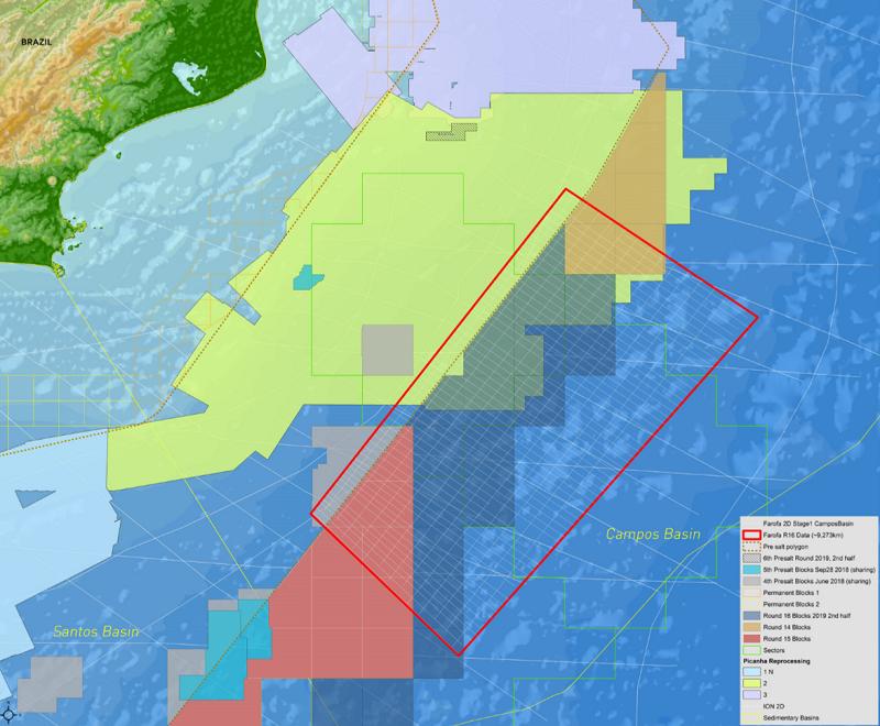 Farofa 2D multi-client reimaging program offshore Brazil