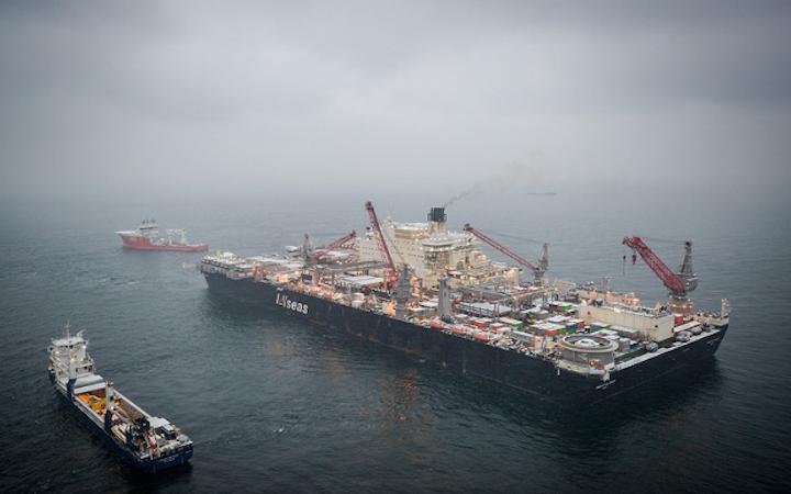 Allseas' multi-purpose construction vessel Pioneering Spirit