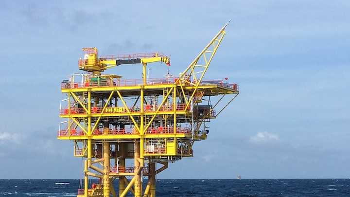 Conductor-supported wellhead platform for the D28 oilfield Phase 1 project offshore Sarawak
