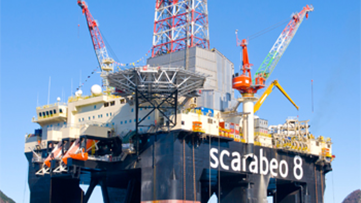 The semisubmersible drilling rig Scarabeo 8.