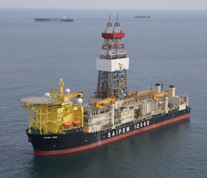 The drillship Saipem 12000 drilled Eni's ultra-deepwater Kekra-01 well offshore Pakistan.