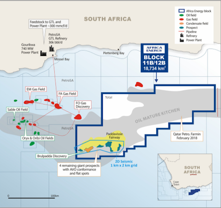 Block 11B/12B offshore South Africa