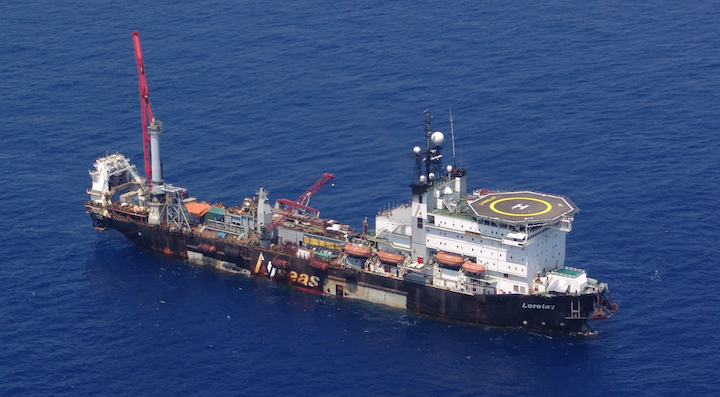 The offshore pipelay vessel Lorelay.