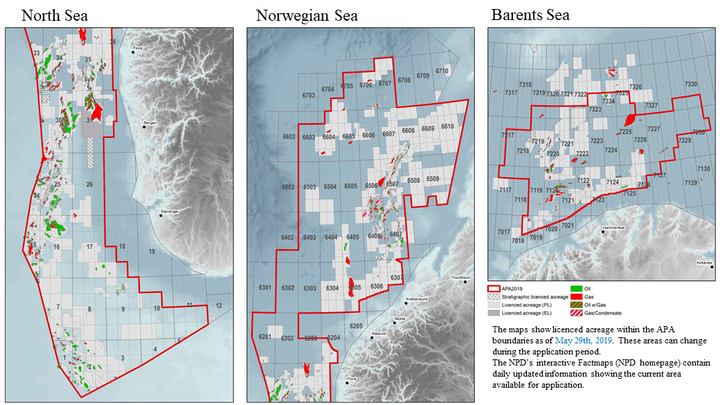 Awards in Predefined Areas 2019 offshore licensing round