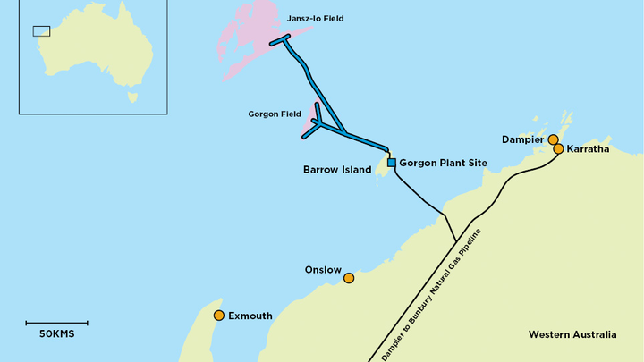 Jansz-Io is part of the Chevron-operated Gorgon project offshore Western Australia.