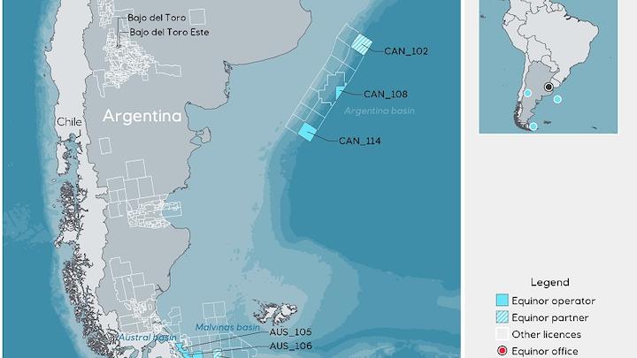 Exploration blocks offshore Argentina