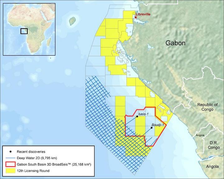 CGG seismic surveys offshore Gabon