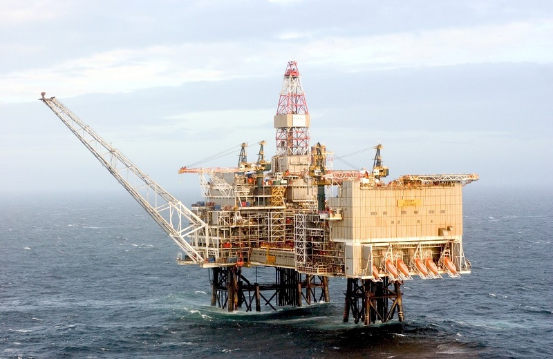 Scott platform in the UK central North Sea