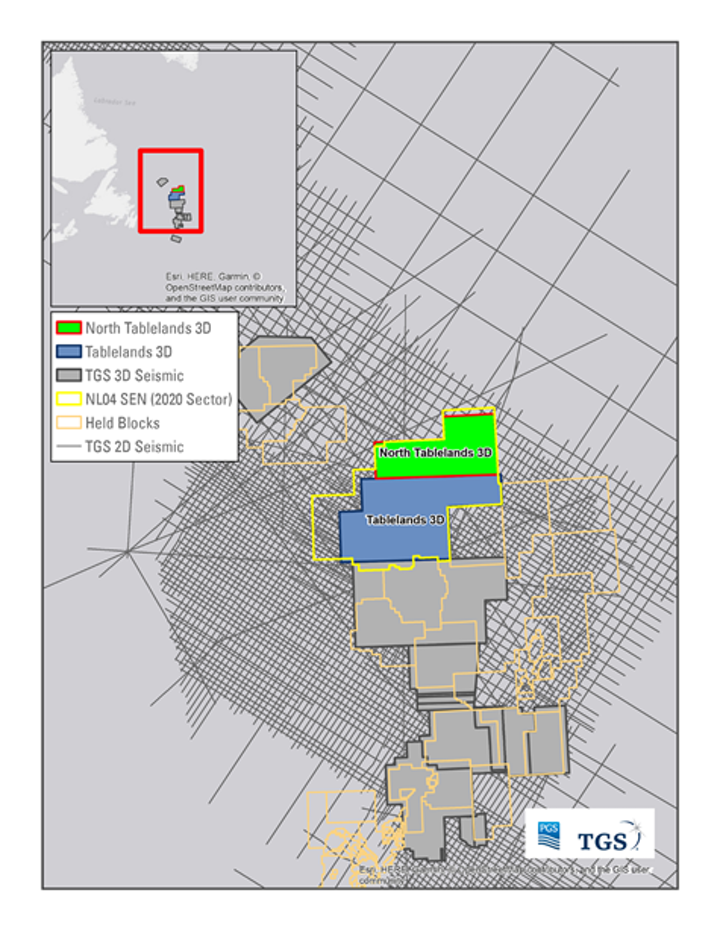 North Tablelands 3D offshore eastern Canada