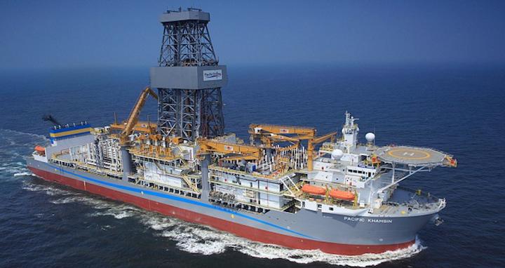 Pacific Drilling's ultra-deepwater drillship Pacific Khamsin