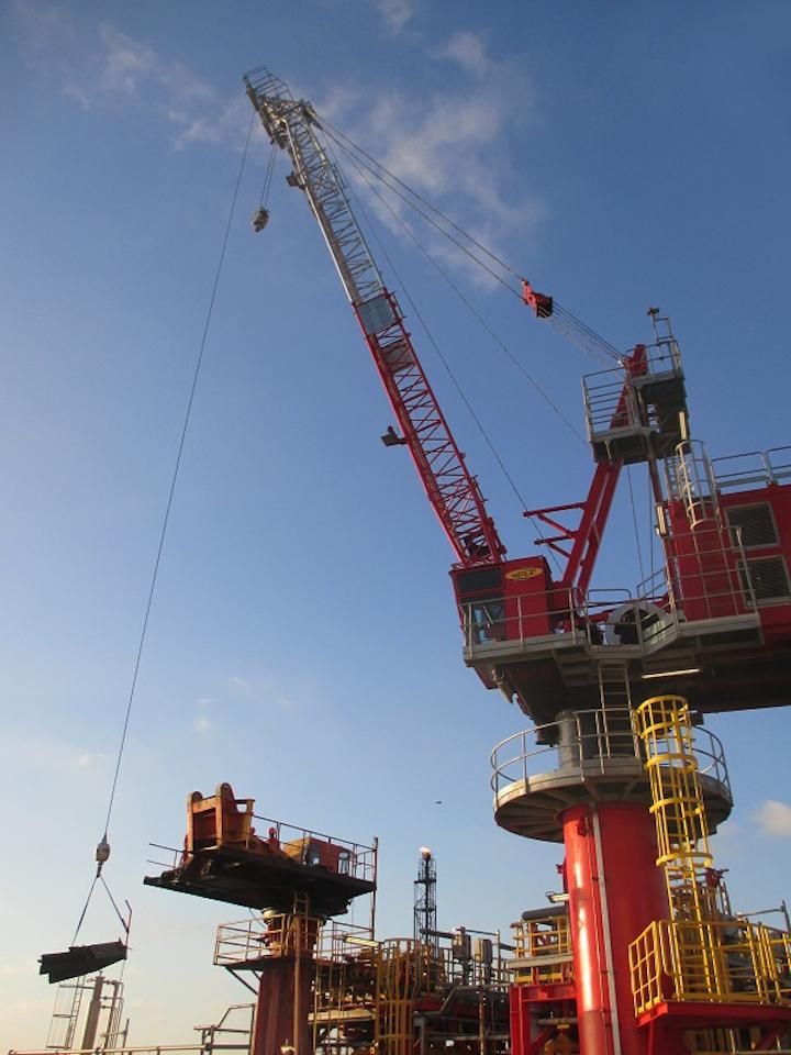 Innovo and Petroconst SA complete crane project in the Black Sea