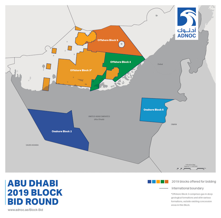 Abu Dhabi offering three offshore blocks in second license
