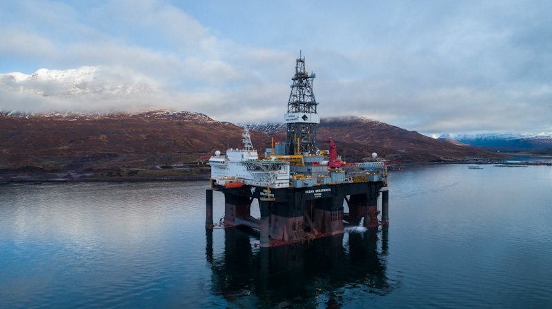 Semisubmersible drilling rig Ocean GreatWhite