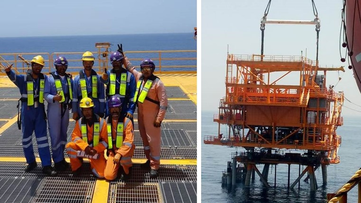 AQAM field development off the UAE